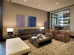 interior ideas for affordable home decor with brown sofa and white with dark wood tables