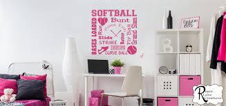 Softball Bedroom Teenage Girl Bedroom Wall Decals