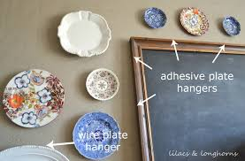 how to hang plates