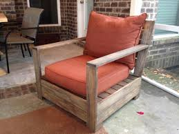 i used the plans for ana white s bristol lounge chair with a slight tweak for the wood i used select pine from home depot