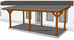 Patio cover plans Redwood Patio Cover Plans Mycarpentry Building Patio Cover Plans For Building An Almostfreestanding