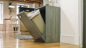 Kitchen Cabinet Garbage Can How To Make A Hidden Trash Can Cabinet Danmade Watch Dan Faires