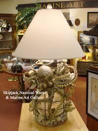 nautical table lamp anchor lantern authentic antique fresnel lens octopus