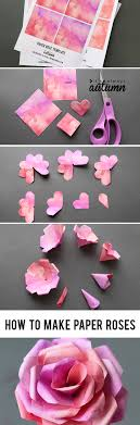 learn how to make paper roses with this beautiful paper rose template step by step