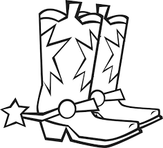 Cowboy Hat Coloring Pages Boot Google Get Coloring Page
