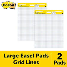 Pad Rank Up Chart Post It Super Sticky Easel Pad 25 X 30 Inches 30 Sheets Pad 2 Pads 560 Large White Grid Premium Self Stick Flip Chart Paper Super Sticking