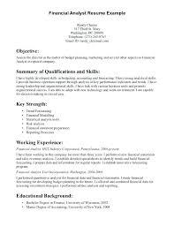 resume of financial analyst sample resume financial analyst simple resume format