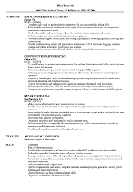 Repair Technician Resume Samples Velvet Jobs