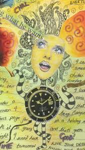 Image Book Collage Created From Magazine Cutouts And Zentangle Feltmagnet Collage Ideas For Your Art Journal Feltmagnet