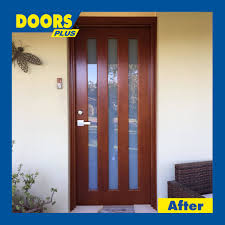 front hinged solid timber with glass archives doors plus
