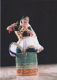 from temple to theatre a dancer s journey and inspirations  darshana jhaveri in the traditional manipuri dance costume