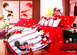 mickey mouse red bedding for nursery sports crib sheets baby set babies r us lets