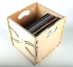 vinyl record crate plans wood wooden size