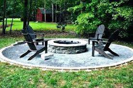 stone fire pit ideas round pits instructions patio for backy