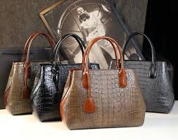 china 2019 genuine leather crocodile allegator patterns tote ping bag women handbags leather travel tote bag china genuine leather hand bag