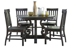 bellpine round dining table 4 side chairs from gardner white furniture
