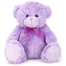 purple colour teddy bear 40 cm