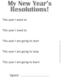 new year s resolutions for kids new years resolutions for the classroon in black and white to save ink