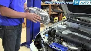 how to install replace change headlights and bulbs hyundai how to install replace change headlights and bulbs 2001 06 hyundai elantra