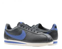 nike classic cortez leather black royal blue men s running shoes 749571 003 free at nycmode