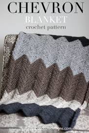 Chevron Crochet Blanket Pattern Mesmerizing Neutral Chevron Crochet Blanket Pattern Crochet Pinterest