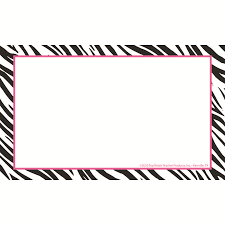 Printable Note Cards 3x5 Border Index Cards 3x5 Zebra Blank By Teachersparadise Com