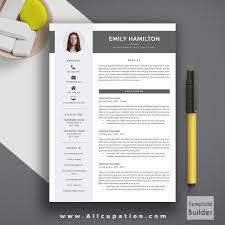 Creative Resume Template Modern Cv Word Cover Letter Formats 2015 F