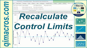 Control Limit Chart In Excel Recalculate Control Limits Ucl Lcl On A Control Chart