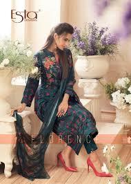 Winter Suit Design 2018 Esta Designs Florence Pashmina Print Work Designer Salwar