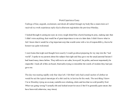 work experience essay gcse work experience reports marked by document image preview