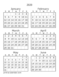 Printable Calendar 3 Month 2020 Download 2020 Printable