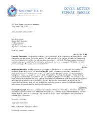 Cover Letter Cover Letter Format Example Cover Letter Email Format