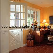 2018 pre wooden door exterior wood doors dutch door with top glass design pictures photos
