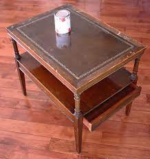 Get the best deals on leather table antique tables when you shop the largest online selection at ebay.com. Painting Repairs Leather Top Coffee Table Leather Coffee Table Leather Side Table
