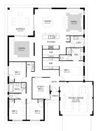 Small One Bedroom House Plans Traditional 1 2 Story Plan Cool 3 4 Small 4 Bedroom House Plans