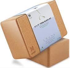 Cork Yoga Block (Set of 2) - Solid Natural Cork ... - Amazon.com