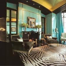 brown and turquoise living room - Google Search