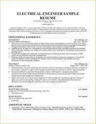 Electrical Engineer Resume Sample Sample Format Of Certificate Of Candidacy Fresh Senior Electrical 16