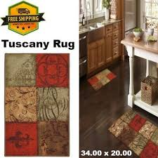 hallway kitchen rug with non skid rubber backing machine wash stain resistance