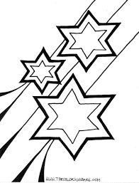 Star coloring pages | The Sun Flower Pages