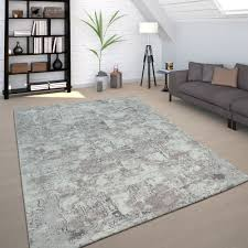 Industrial Rug Used Look Concrete Appearance Grey