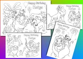 Small Picture Lion King Birthday coloring pages activity PDF file