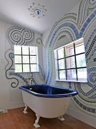 bathroom walls and floors