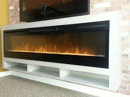 dimplex blf 74 electric fireplace in custom white oak floating cabinet 1699 00 cad for
