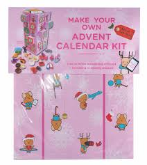 contemporary pink advent calendar kit