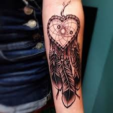 Heart Dream Catcher Tattoo Two Heart Dreamcatcher Tattoo Pictures to Pin on Pinterest 81