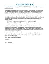 Example Resume Letter Best Wellness Cover Letter Examples Livecareer