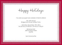 Formal Christmas Party Invitations Polka Dot Red Holiday Party Invitation