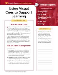 Quick Coaching Guide Using Visual Cues To Support Learning