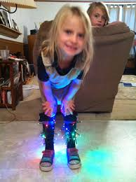 Led Ankle Lights My 4 Year Old Rocked Crazy Sock Day With Battery Operated